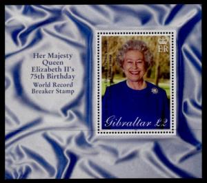Gibraltar 880 MNH Queen Elizabeth 75th Birthday