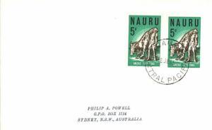 Nauru 5d Anzac (2) 1965 Nauru, Central Pacific to Sydney, Australia.  Philate...