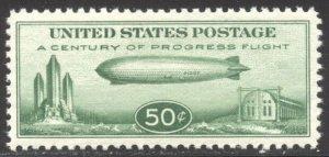 U.S. #C18 CHOICE Mint XF/SUP NH w/Cert - 1933 50c Zeppelin
