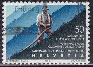 Switzerland 858 USED 1990 Assist. for Mountain Comm. 50c