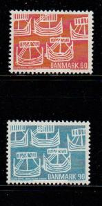 Denmark Sc 454-5 1969 Nordic Cooperation stamp set mint NH