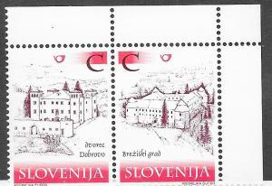Slovenia #410-411 buildings  (MNH) CV $3.00