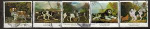 Great Britain Sc 1344-9 1991 Dog stamps used