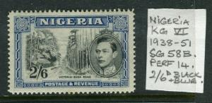NIGERIA; 1938 early GVI issue fine Mint hinged 2s. 6d. value
