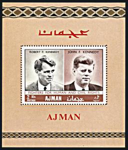 Ajman Michel Block 47, MNH, Robert and John Kennedy souvenir sheet