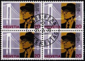 Switzerland. 1979 20c(Block of 4). S.G.971 Fine Used