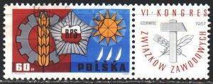 Poland. 1967. 1769. Poland Trade Union Congress. USED.