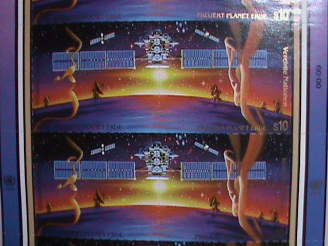 UNITED NATION STAMP: 1992 SC#134a  MASSION TO PLANET EARTH FULL SHEET MNH VIENNA