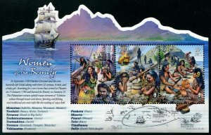 HERRICKSTAMP NEW ISSUES PITCAIRN ISLANDS Sc.# 827 Women of the Bounty S/S