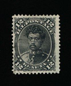 GENUINE HAWAII SCOTT #36 F-VF USED 1875 BLACK PRINCE WILLIAM LELEIOHOKU  #15824