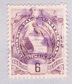 Guatemala 47 Used National emblem 1886 (BP29625)