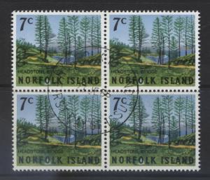 Norfolk Is - Scott 88 - Scenic Views -1966 - VFU - Block of 4  Stamps