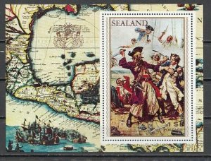 Sealand, Local issue. Blackbeard the Pirate s/sheet. *