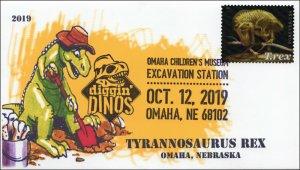 19-266, 2019, T-Rex, Pictorial Postmark, Event Cover, Tyrannosaurus Rex, Omaha N