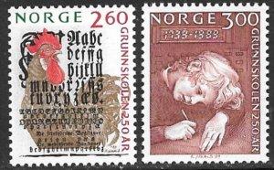 NORWAY 1989 Public Primary Schools Set Sc 944-945 MNH