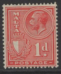 MALTA SG159 1927 1d ROSE-RED MTD MINT