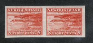 Newfoundland #209a Extra Fine Never Hinged Imperf Pair