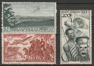 Cameroun 1947 Sc C26-8 Yt PA38-40 air post set MH*/MNG(*)