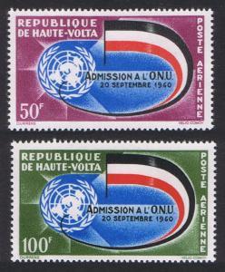Upper Volta Second Anniversary of Admission to UN 2v 1962 MNH SG#109-110