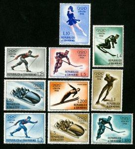 San Marino Stamps # 364-72 VF OG LH Scott Value $25.15