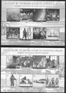 BRITISH ANTARCTIC TERRITORY SG516/31 2010 EXPEDITION CENTENARY MNH