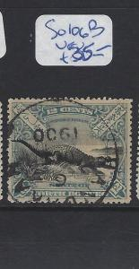 NORTH BORNEO (P2309B) 12C CROCODILE SG 106B SANDAKAN CDS  VFU