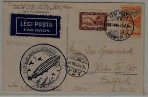 Hungary Zeppelin card 25.3.31 Budapest72