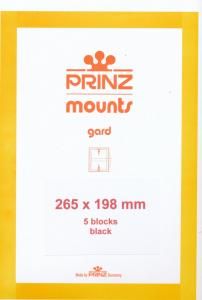 Prinz Scott Stamp Mount 198/265 BLACK Background Pack of 5