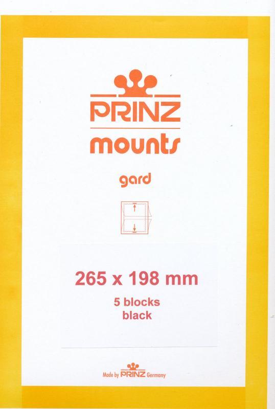 Prinz Scott Stamp Mount 198/265 mm - BLACK (Pack of 5)(198x265 198mm) STRIP 1075