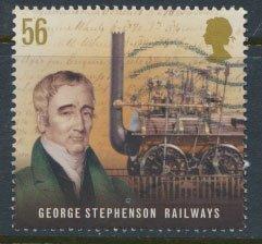 Great Britain SG 2920 Sc# 2649  Used  George Stephenson Railways