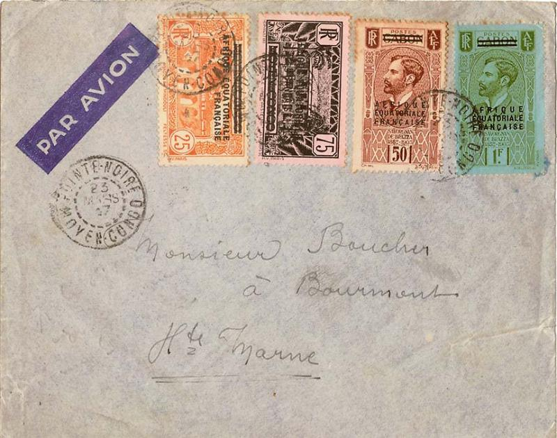 French Equatorial Africa 1937 Postal History