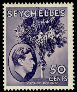 SEYCHELLES SG144, 50c dp reddish violet, LH MINT. Cat £20. CHALKY