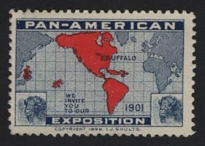 United States Buffalo Pan American Exposition Label Cinderella - BARNEYS