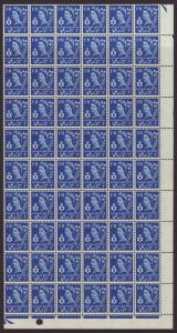 1967 Northern Ireland 4d Phosphor In ¼ Sheet U/M SGNI2p