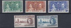 BAHAMAS   1937 - 46  CORONATION & VICTORY SETS  MH