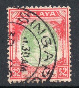 Malaya Straits Settlements 1937 KGVI $2 SG 291 used