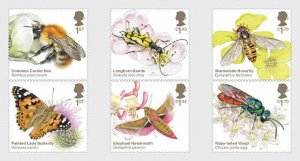 Stamps Great Britain 2020. - Brilliant Bugs - Set.