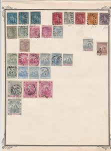 barbados mounted mint and used stamps on album page   ref r9070