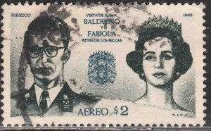 MEXICO C306, Visit of King and Queen of Belgium. USED, VF. (635)