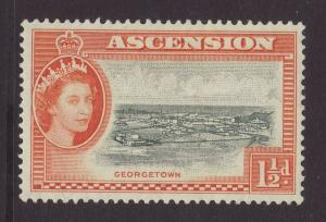 1956 Ascension 1½d Mounted Mint SG59