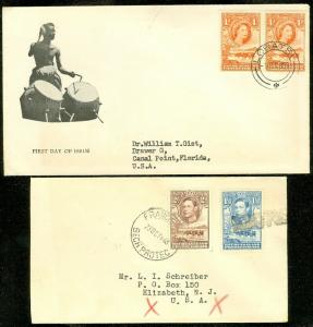 EDW1949SELL : BECHUANALAND 2 good usage covers to USA.