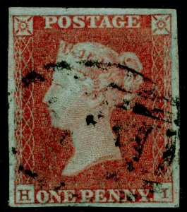 SG8, 1d red-brown, FINE USED. £35. 4 MARGINS. HI