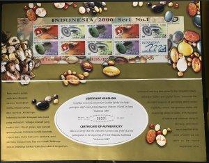 1708b Gemstones/Indonesia 2000 Philatelic Exhibition Prestige Booklet CV$18