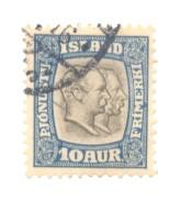 Iceland Sc O34 1907 10 a 2 Kings Official stamp used
