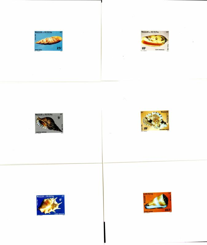 WALLIS et FUTUNA  333-8 PROOF SET MNH  BIN $55.00 MARINE LIFE