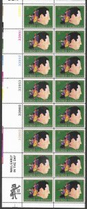 USA # 1484 George Gershwin- Plate Block of 12 plus Zip Block (1) Mint NH