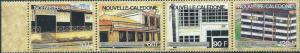 New Caledonia - Historic Post Offices - 4 Stamp Strip - 14L-006