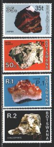 Botswana. 1976. 165 I-68 I from the series. Minerals, geology. MNH.