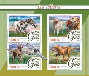 Guinea - 2016 Dogs on Stamps - 4 Stamp Sheet - GU16204a