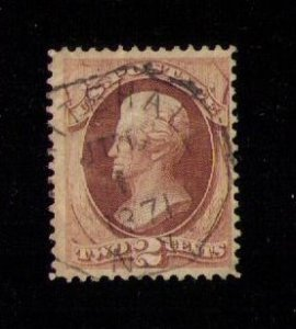 US Sc 157 Yellowish Brown Used F-VF